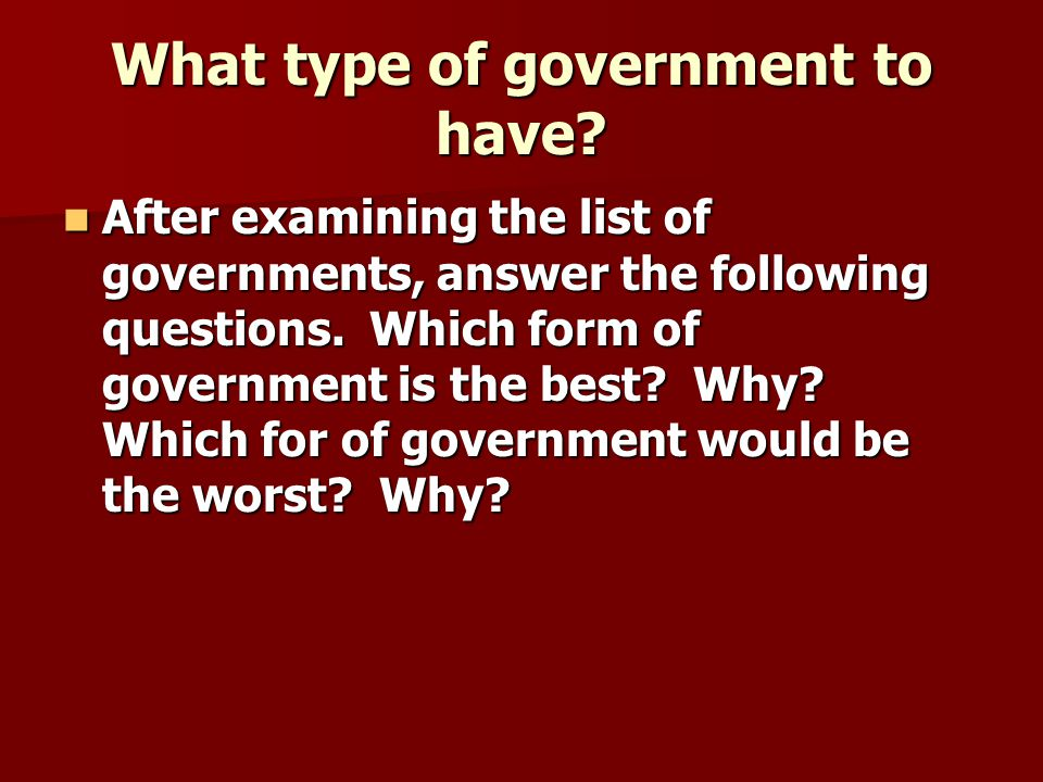Types of Governments Chapter 1, Sec ppt download