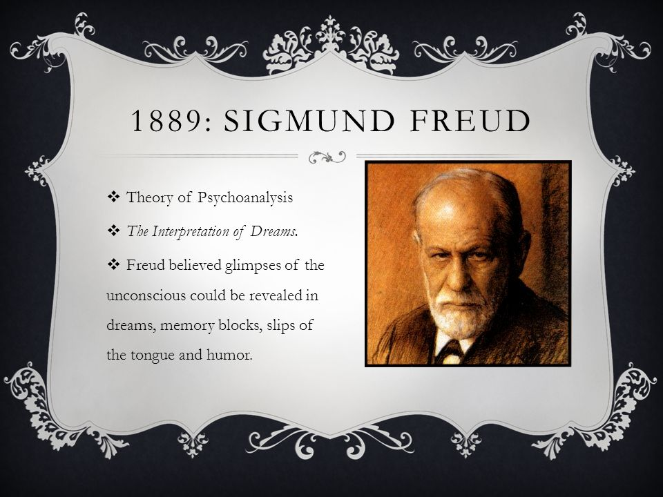 a summary of the theories of sigmund freud Watch video sigmund freud was born in freiberg, which is now known as the czech republic, on may 6, 1856 freud developed psychoanalysis, a method through which.
