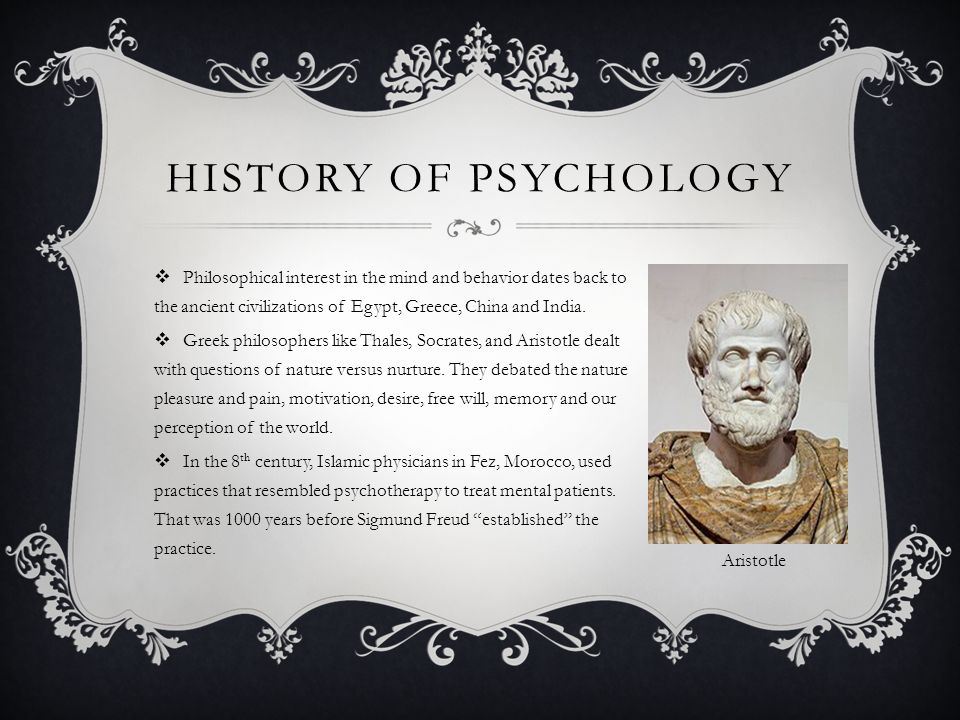 The history of psychology from ancient greece