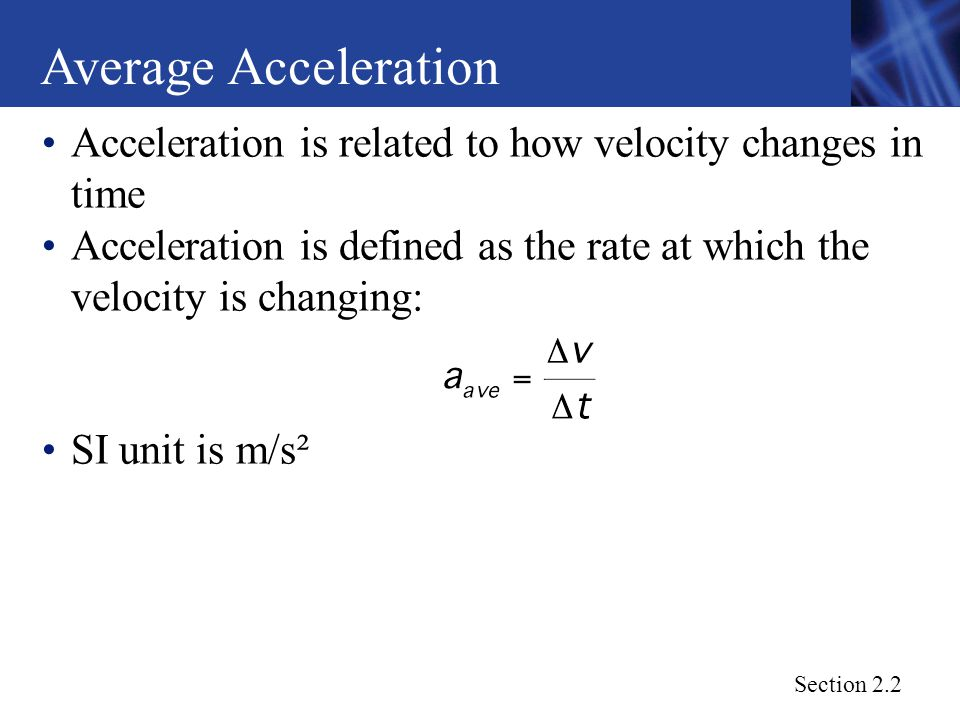 how to find average velocity from acceleration and time