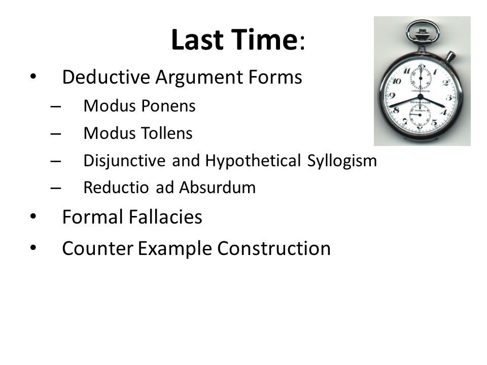 types of fallacies in critical thinking The usage of critical thinking, with respect to arguments, involves two type of logic deductive and inductive a deductive argument is an argument such that the premises provide (or appear to provide) complete support for the conclusion.