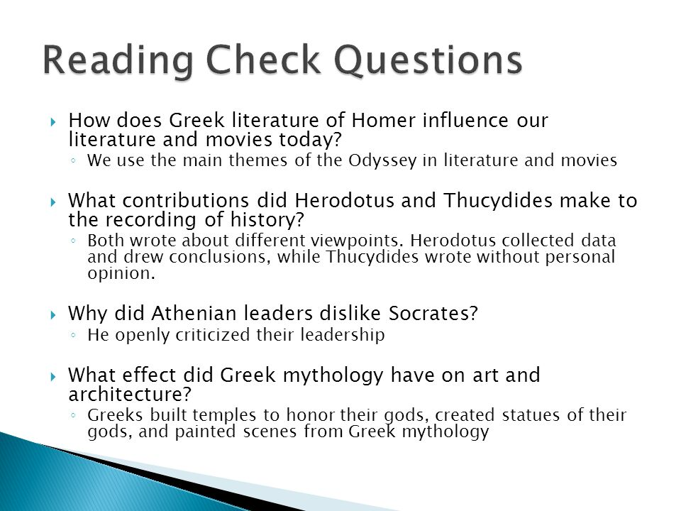 The contribution of the ancient greeks to modern society from philosophy to literature from medicine