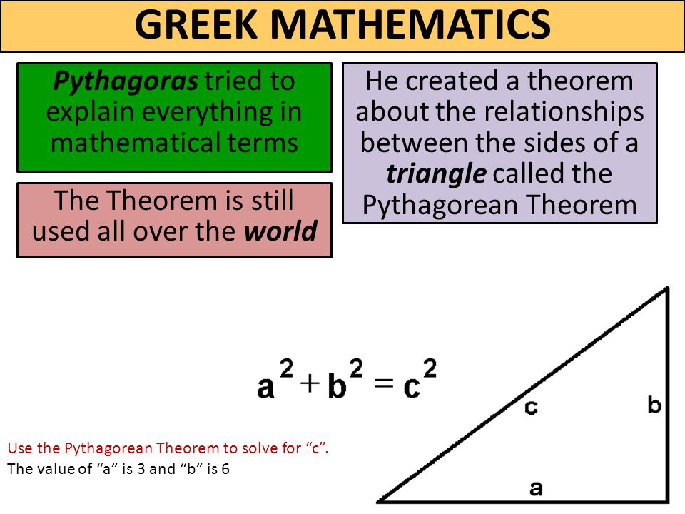 """greek math Basic ideas in greek mathematics michael fowler uva physics department closing in on the square root of 2  in our earlier discussion of the irrationality of the square root of 2, we presented a list of squares of the first 17 integers, and remarked that there were several """"near misses"""" to solutions of the equation m 2 = 2n 2."""