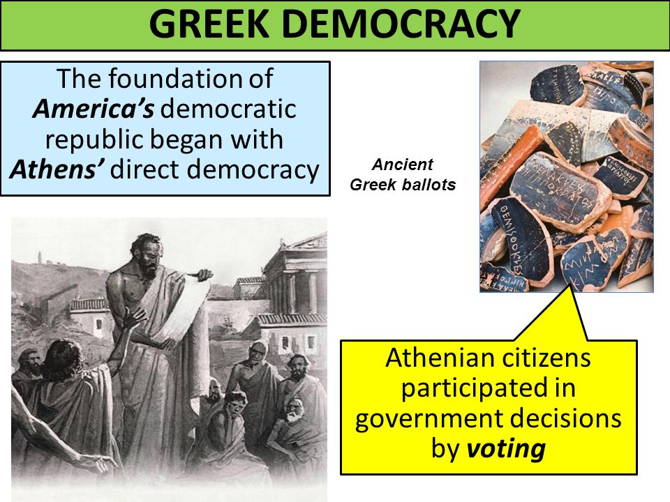 A comparison of ancient conception of democracy and the modern one