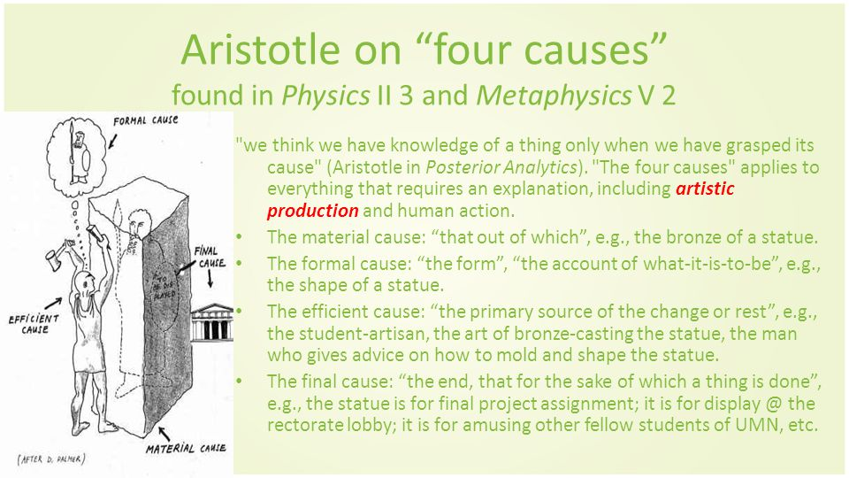 alfarabi and aristotle the four causes For example, al-farabi, he is considered the foremost aristotelian, and was  4-  what is the major work of muslim philosophers that connotes  for example,  according to aristotle, god must be the first cause or the first.