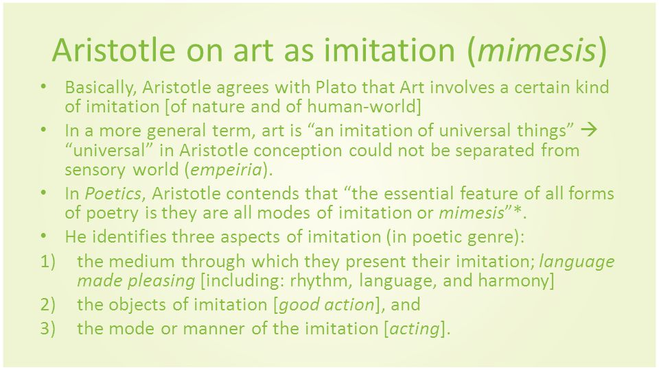 Aristotle immitation concept