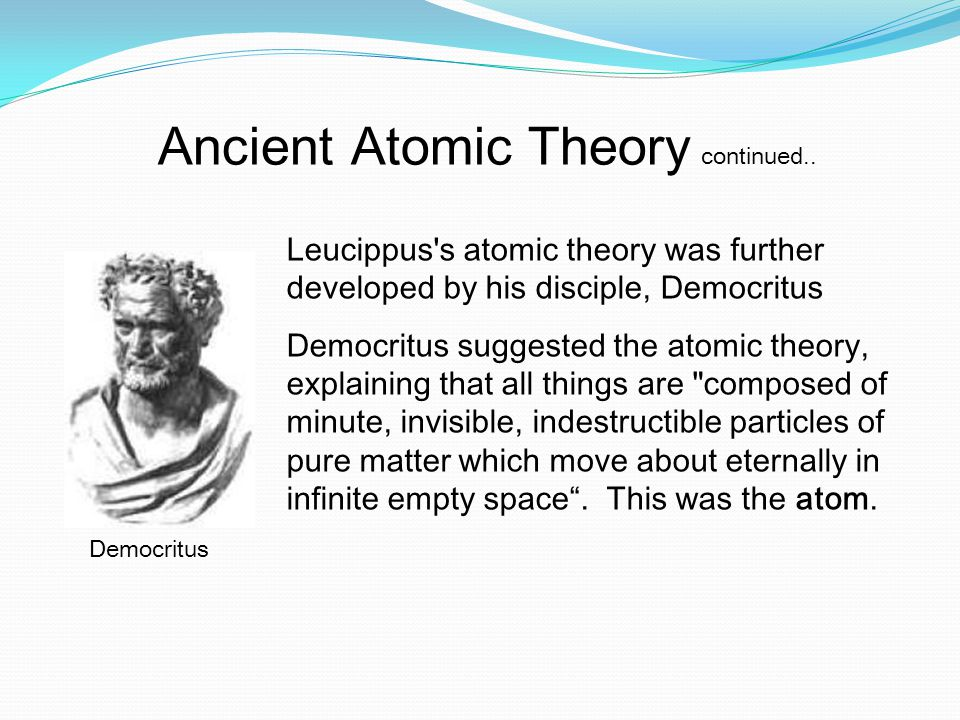 what was democritus atomic theory