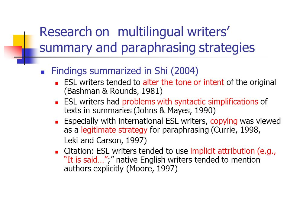 Website for paraphrasing research