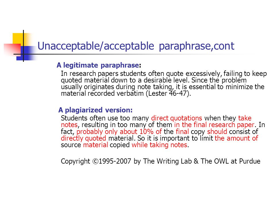 linguistic challenges of summary and paraphrase ppt video online unacceptable acceptable paraphrase cont