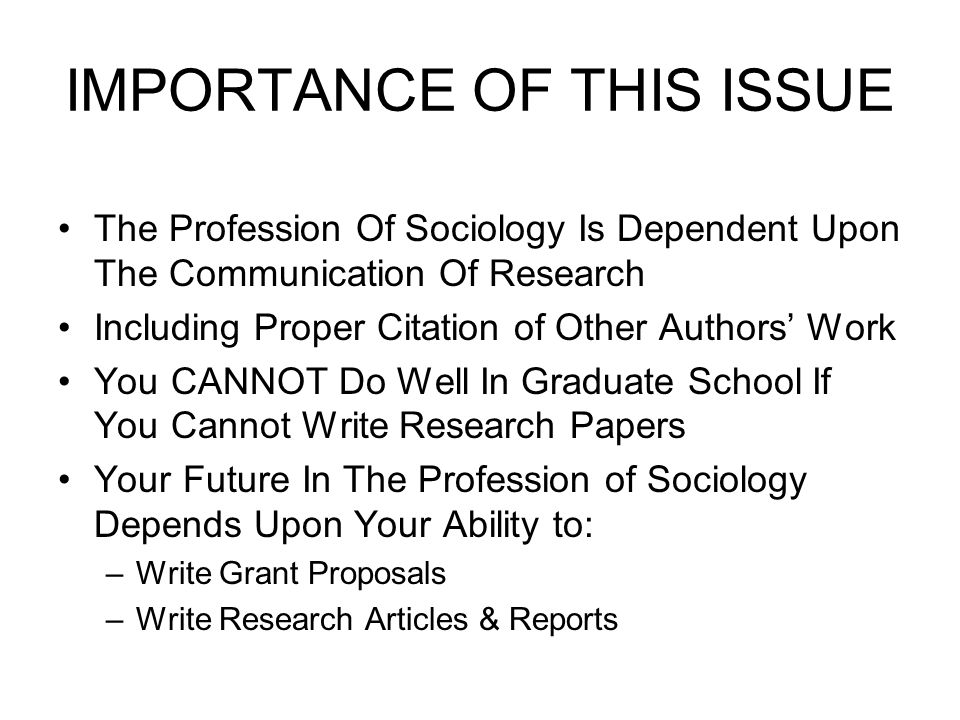 Importance Of Research Papers