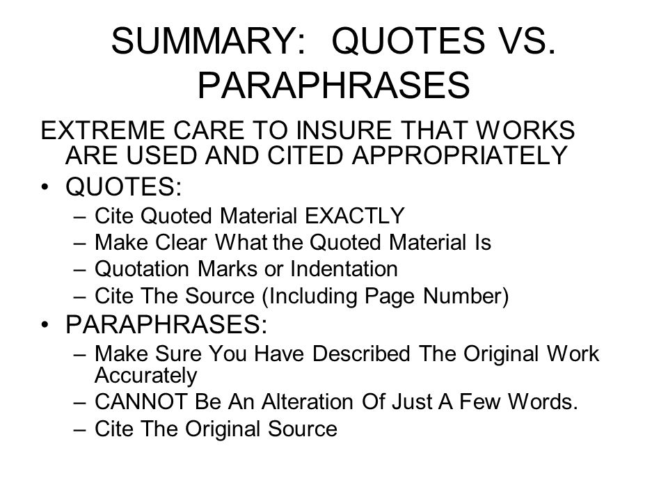 how to paraphrase a quote in a research paper Quoting vs paraphrasing - mla style sccclibrary  quote, paraphrase, summary - duration:  basic mla research paper - duration:.