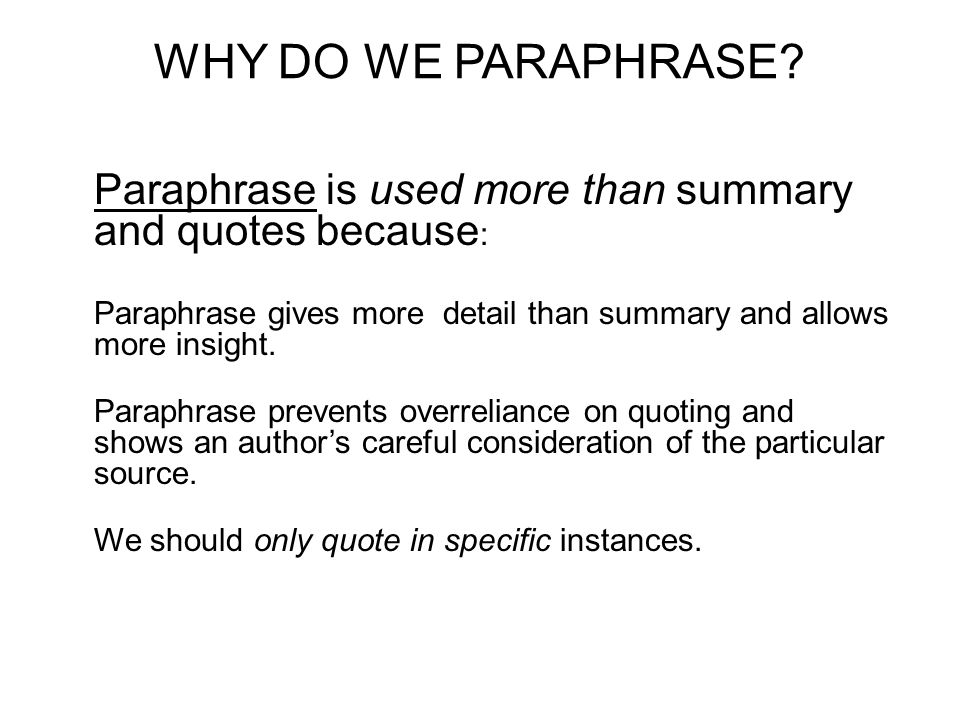 research papers and paraphase A research paper is one where an original study has been performed a review paper may be either a narrative review, a systematic review or a meta-analysis.