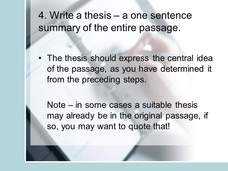 summary writing of thesis Where find best thesis writing services for a reasonable price get-essaycom is the professional writing site to give a try price will make you happy.