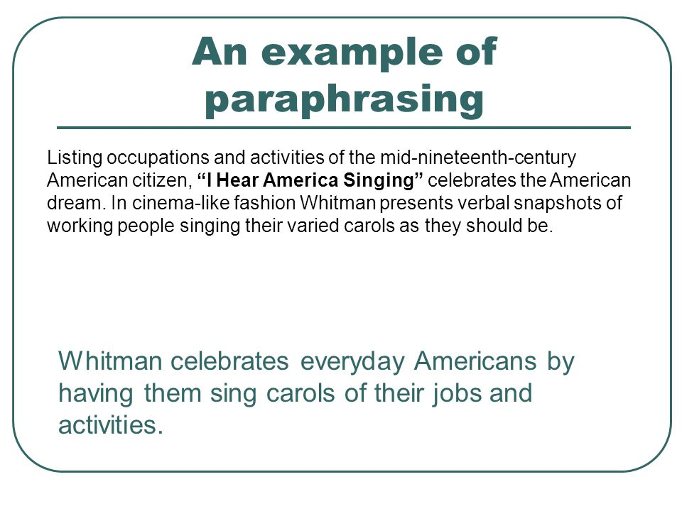 paraphrasing a book more than a When is it best to use a direct quote and when should you paraphrase paraphrasing makes more sense if: or book describes the.