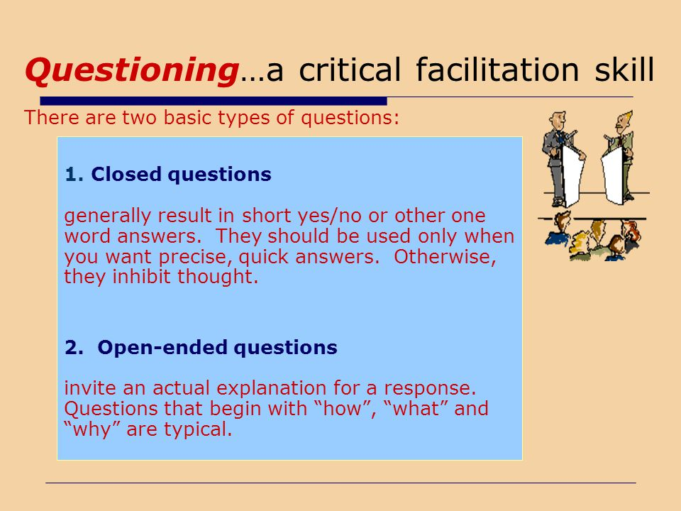 Questioning…a critical facilitation skill