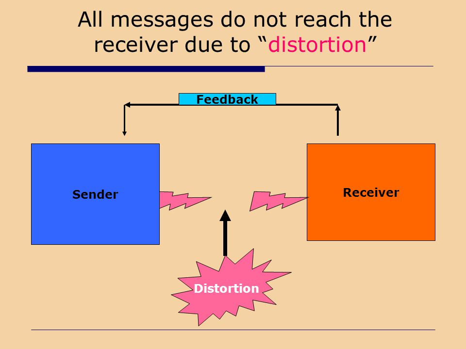 All messages do not reach the receiver due to distortion