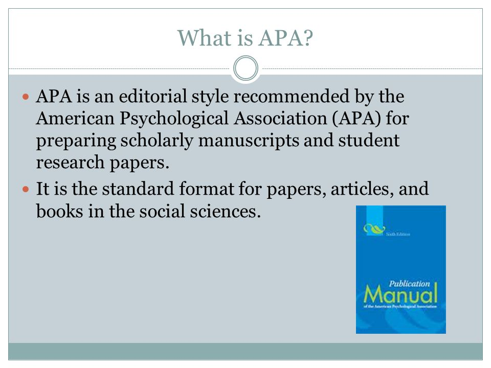 what is apa writing style