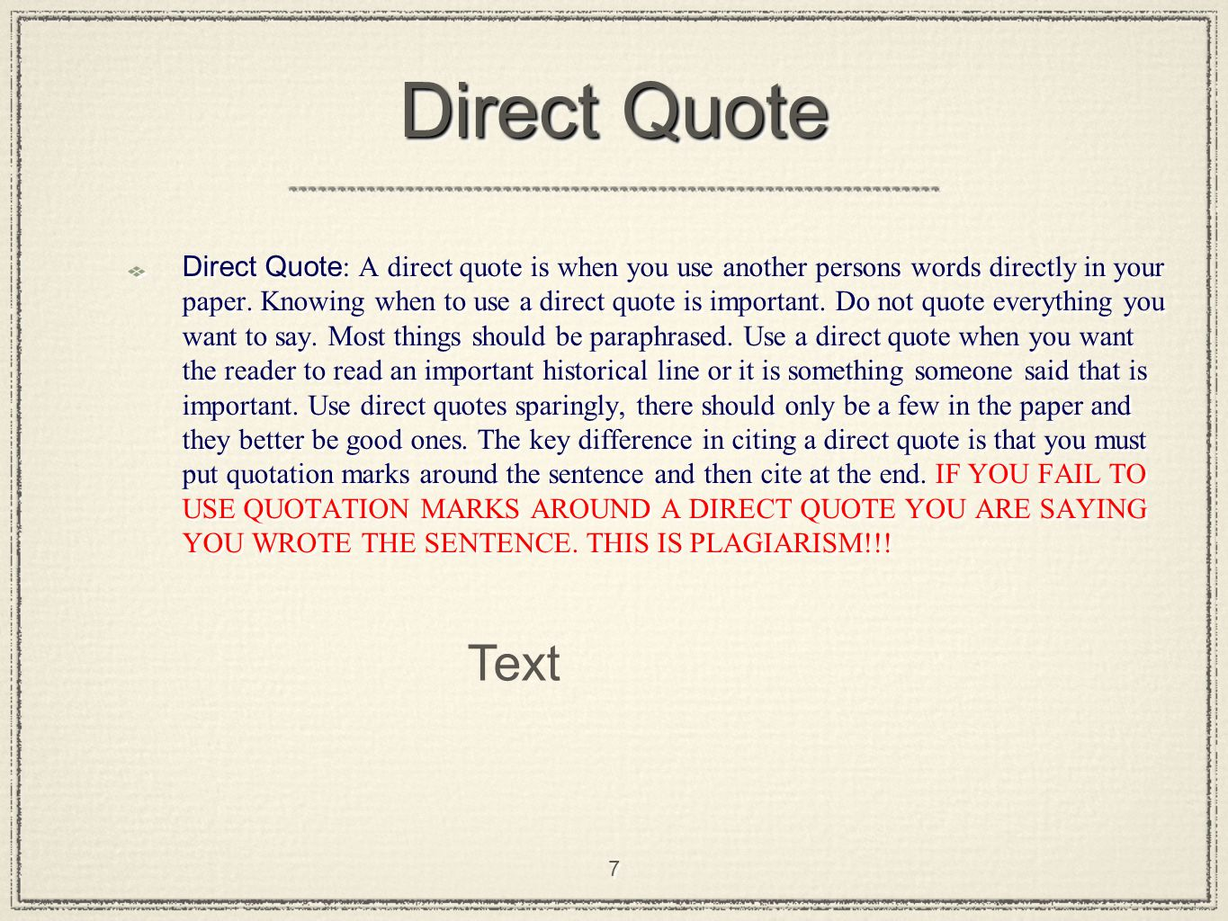 use of quotations in an essay Punctuate the quote correctly use double quotation marks for the quote itself and, where applicable, single quotation marks for quotes within the quote.