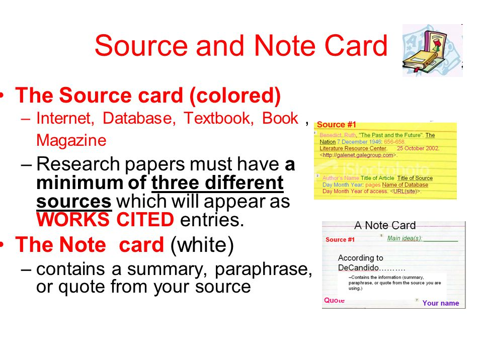 Research Paper Index Cards Example