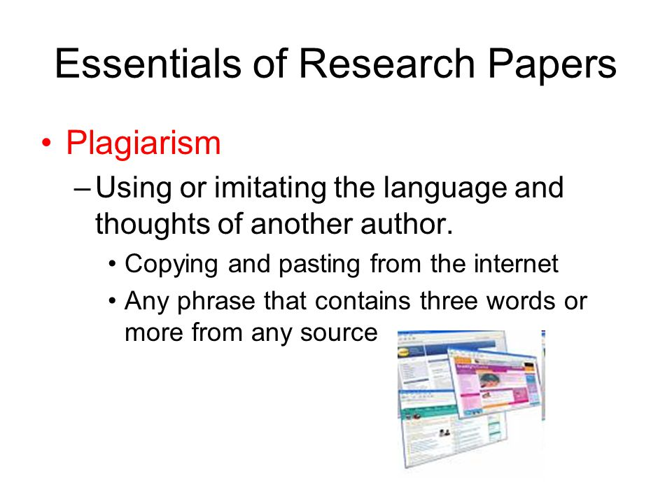 Using internet sources research papers
