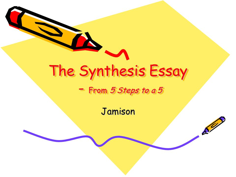 how to write a synthesis essay step by step Writing a multiple-source (synthesis) essay part two developing your paragraphs: to develop a body paragraph, follow a basic three-step  approach: 1) decide on a main point and.