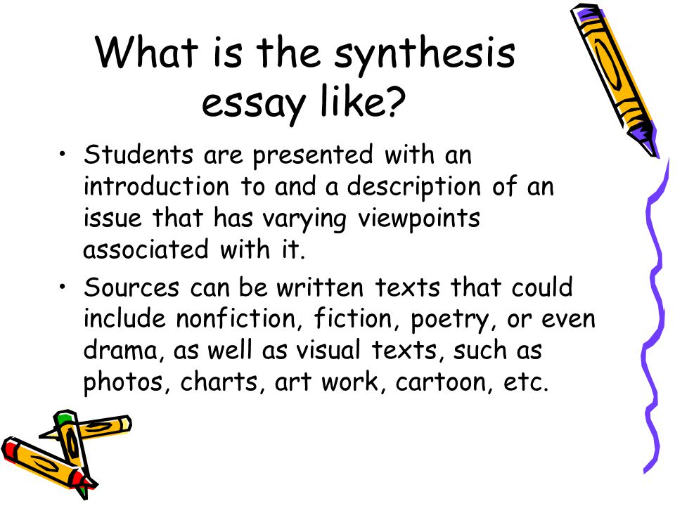 How to write a synthesis paper