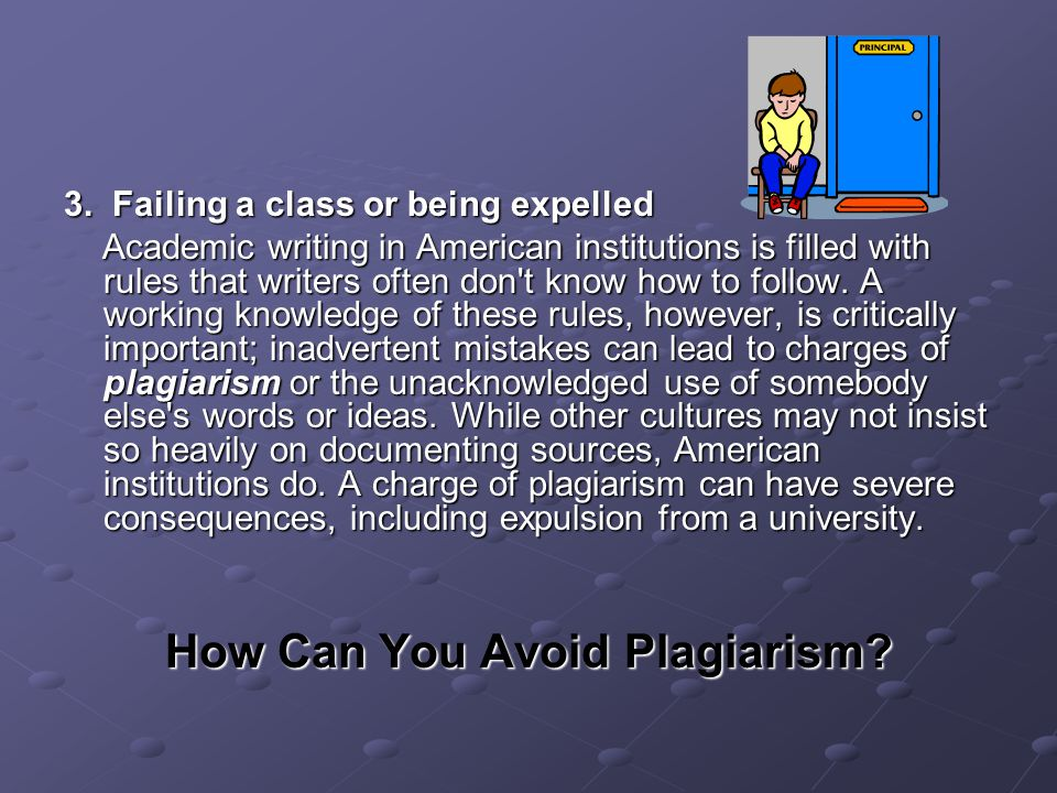 how to avoid plagiarism in academic writing How to avoid plagiarism plagiarism is stealing it is the act of passing off another person's intellectual property as your own and taking credit for another person's work colleges and universities take academic dishonesty very seriously and are very hard on students who commit plagiarism.