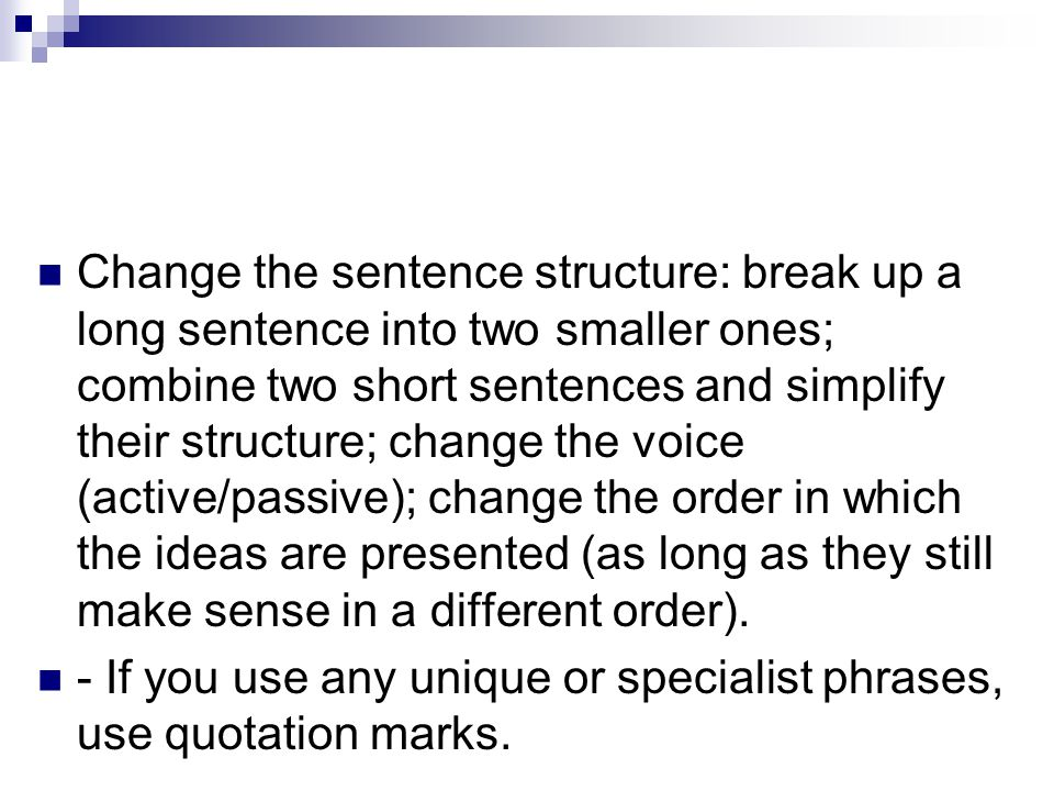 how to make long sentences short