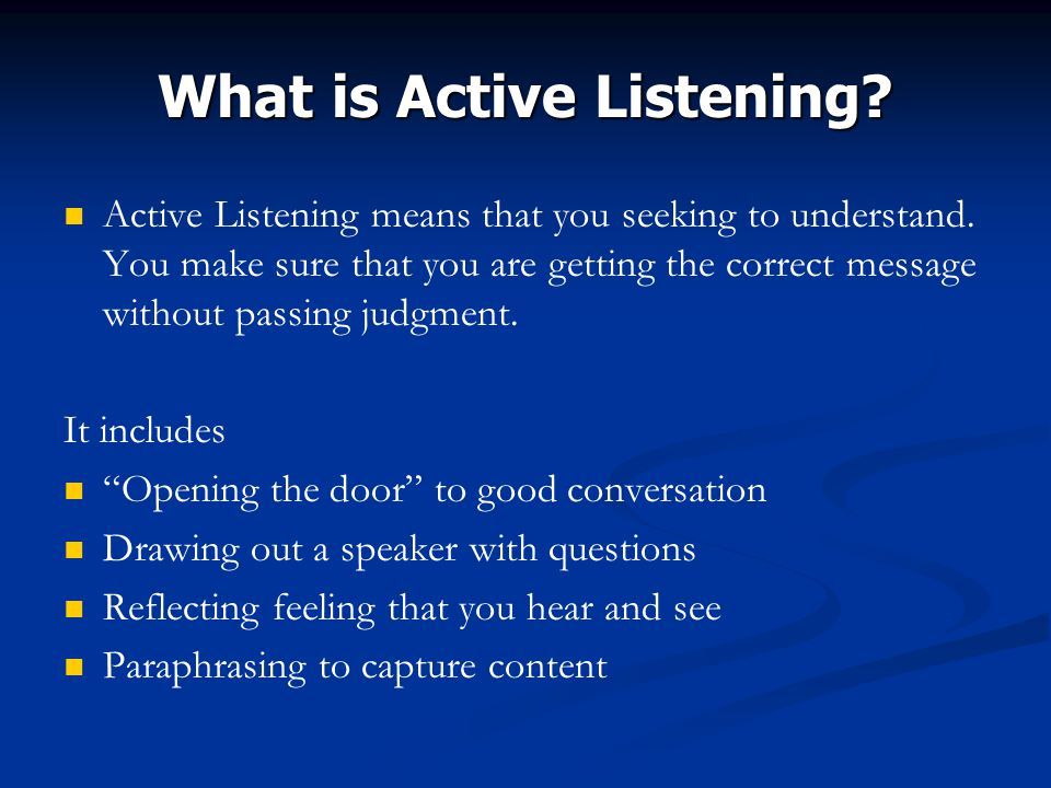 active listening in 4 steps essay There are many different ways to show compassion for others the important thing  is  you might also practice active listening, which involves.