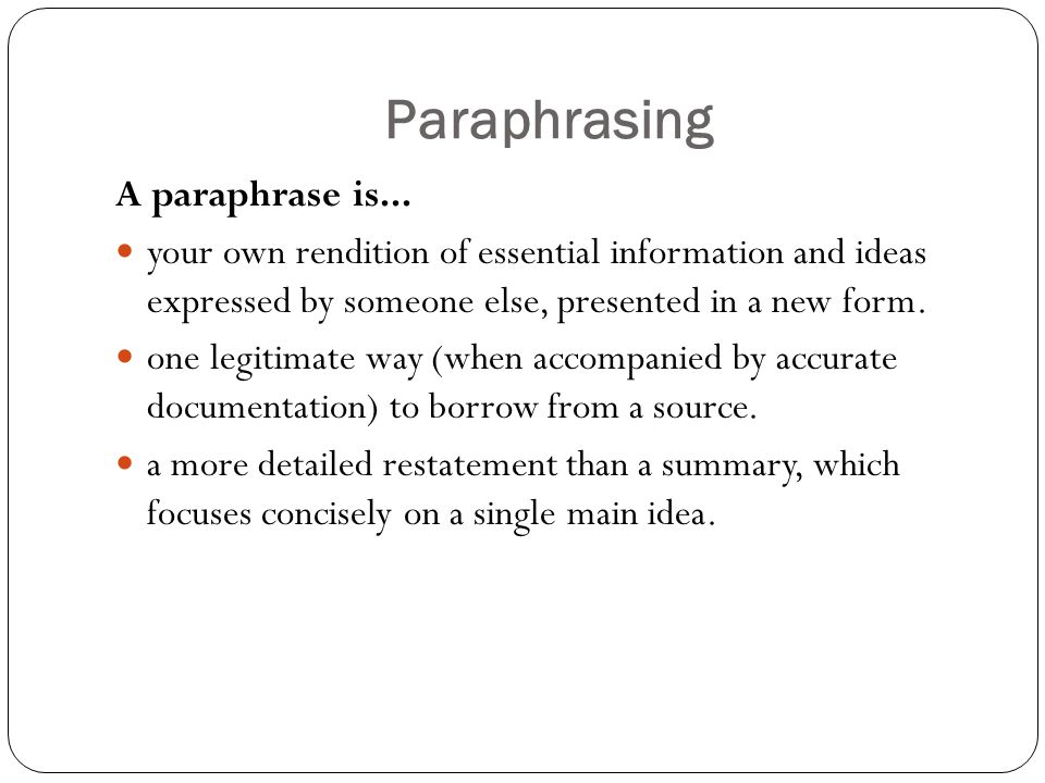 Six steps effective paraphrasing