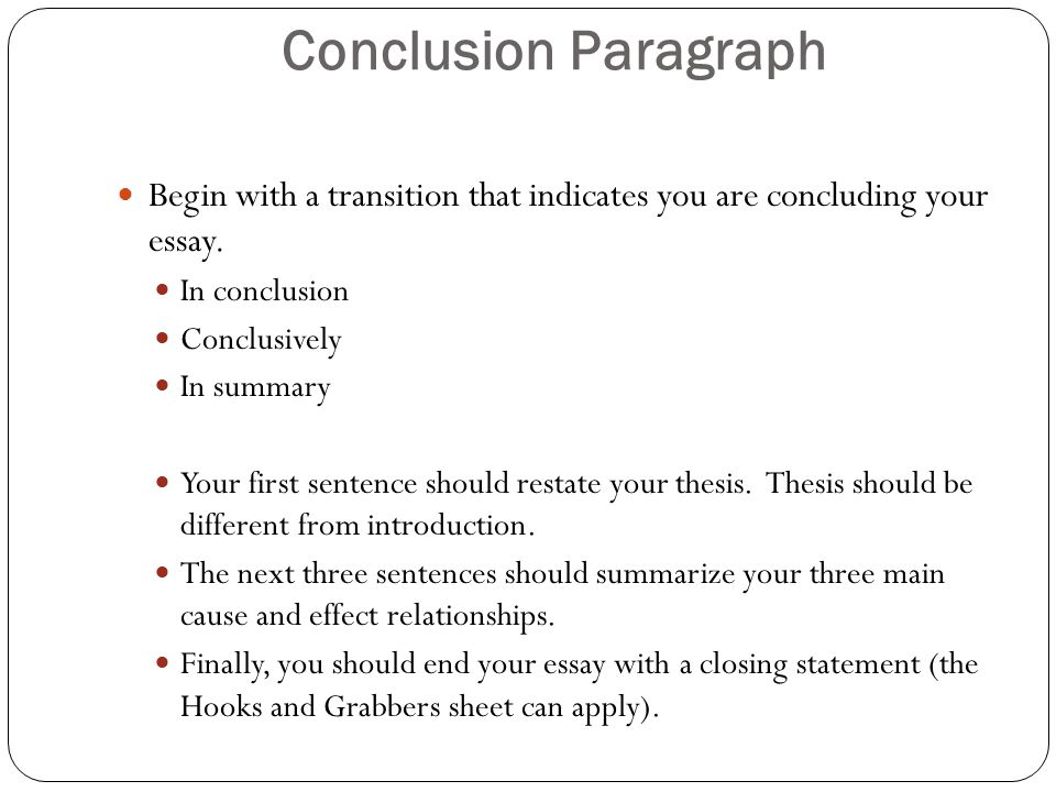 cause and effect writing ppt 21 conclusion paragraph
