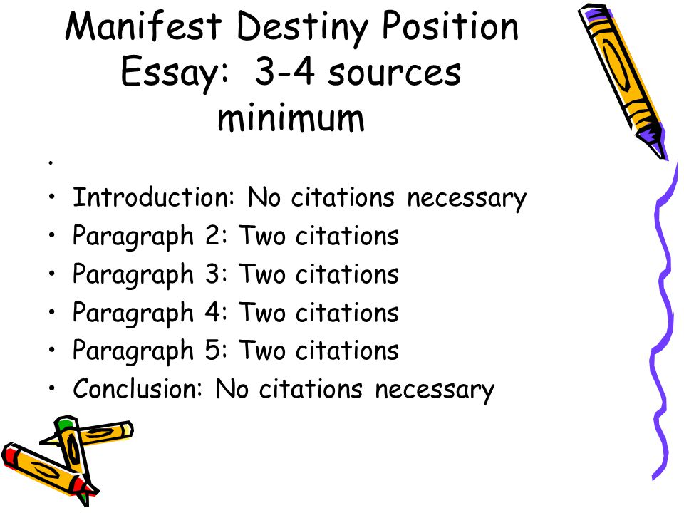 argumentative essay on manifest destiny Argumentative essay on thomas jefferson  this lead to the idea of manifest destiny, the manifest destiny was the desire of the ignited states to expand westward we will write a custom.