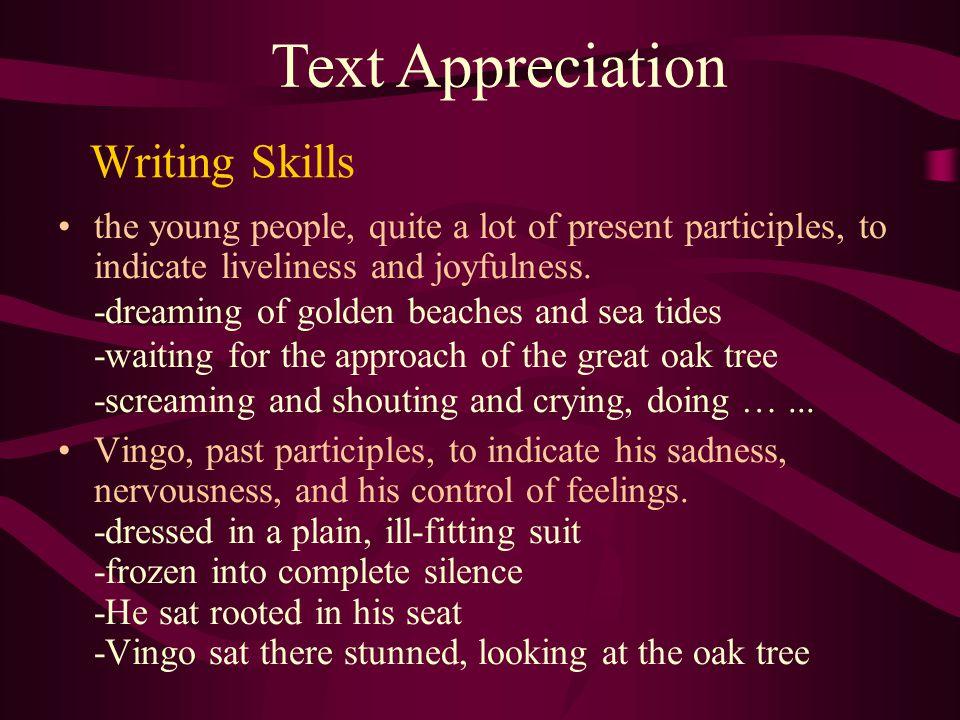 Text Appreciation Writing Skills