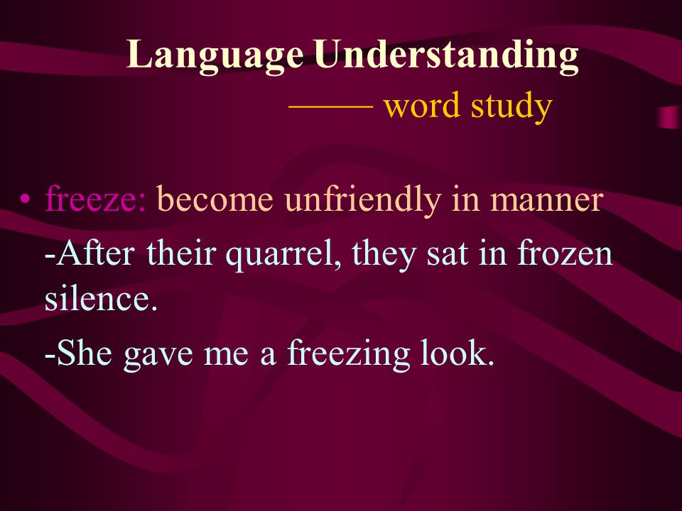 Language Understanding —— word study