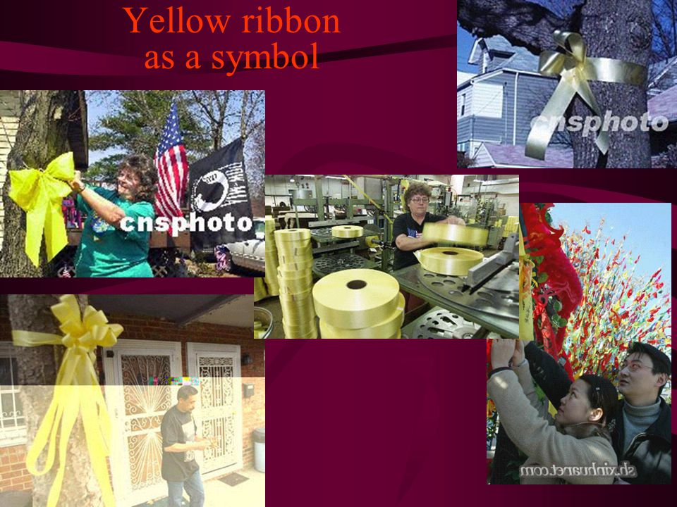 Yellow ribbon as a symbol