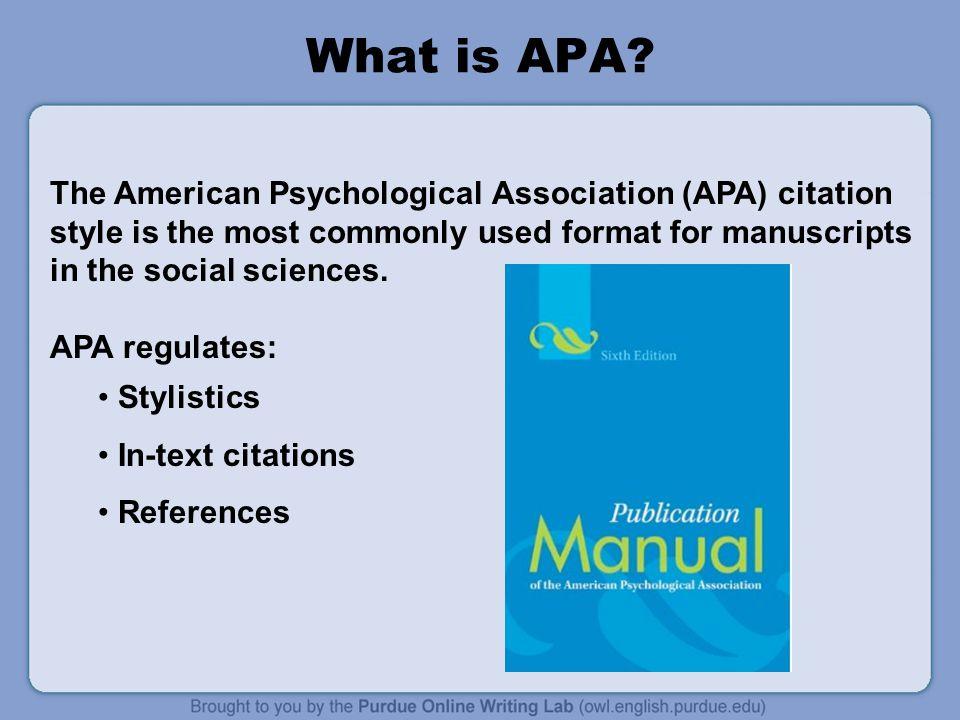 american psychology association format