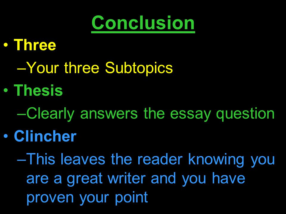 conclusions thesis statements