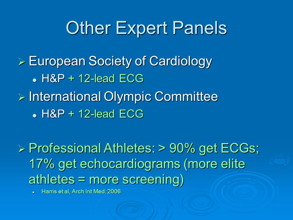 Other Expert Panels European Society of Cardiology