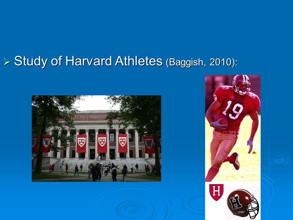 Study of Harvard Athletes (Baggish, 2010):