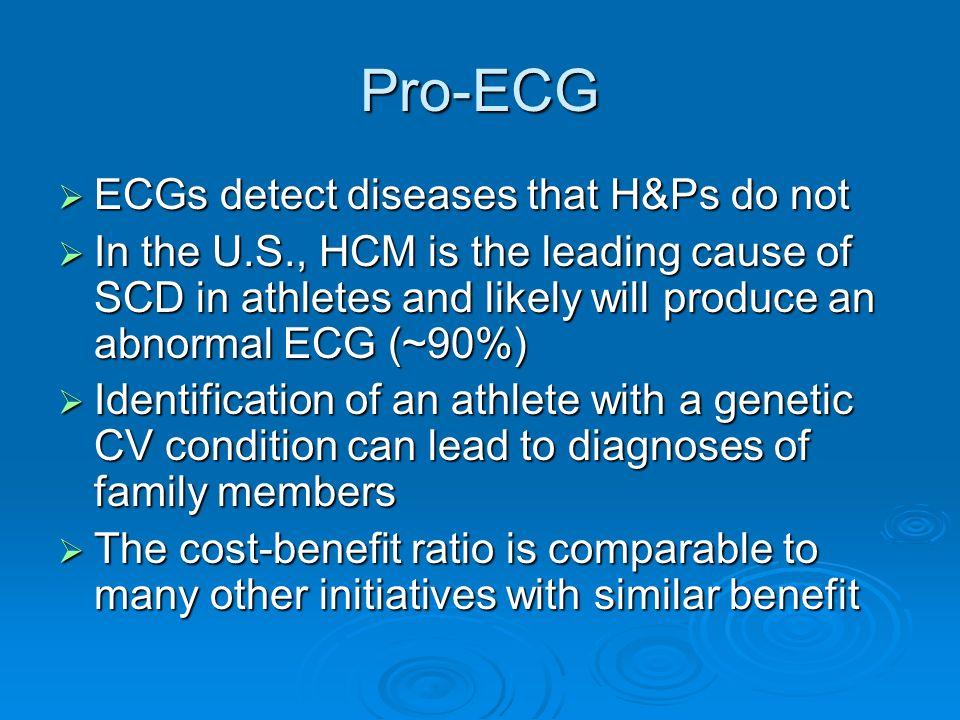 Pro-ECG ECGs detect diseases that H&Ps do not