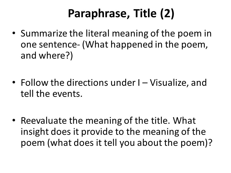 paraphrase literally means