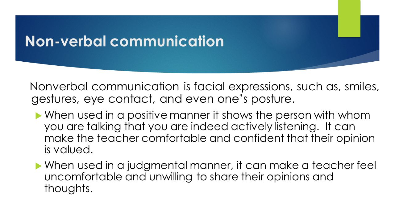 Examples of Non Verbal Communication