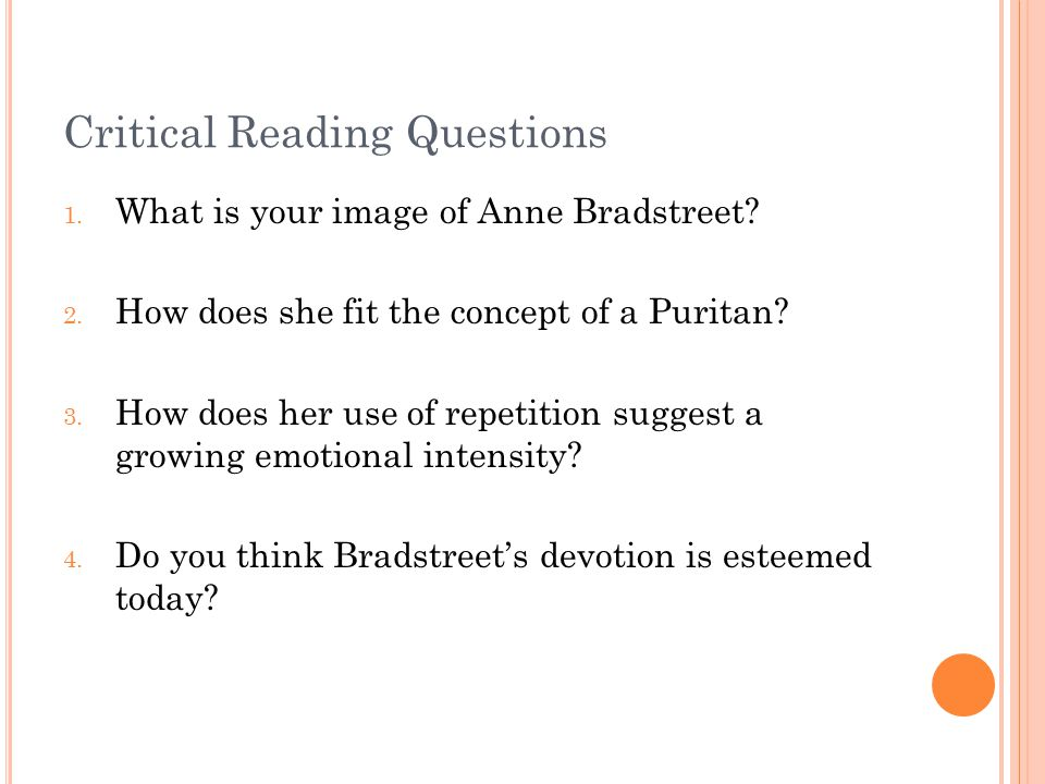 How did Anne Bradstreet's poetry reflect her religious beliefs?