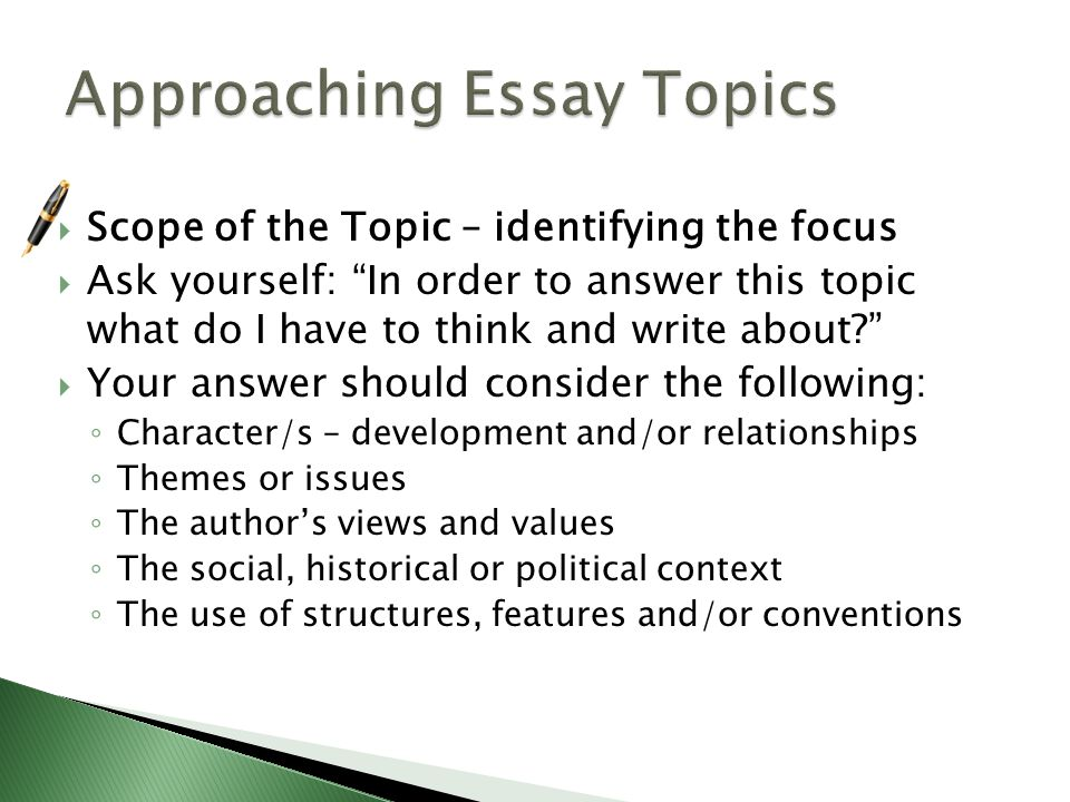 how to write a text response essay ppt  approaching essay topics