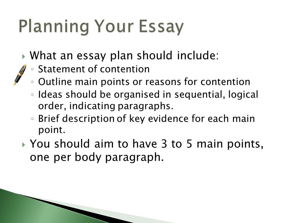 the main point essay This thesis statement is not your main point it is the main point of your source usually, though, you have to write this statement rather than quote it from the source text it is a one-sentence summary of the entire text that your essay summarizes.