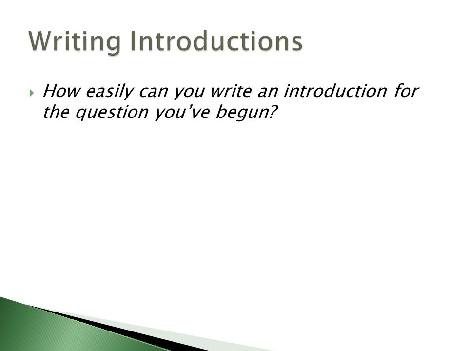 introductions essay writing Your essay lacks only two paragraphs now: the introduction and the conclusion these paragraphs will give the reader a point of entry to and a point of exit from your.