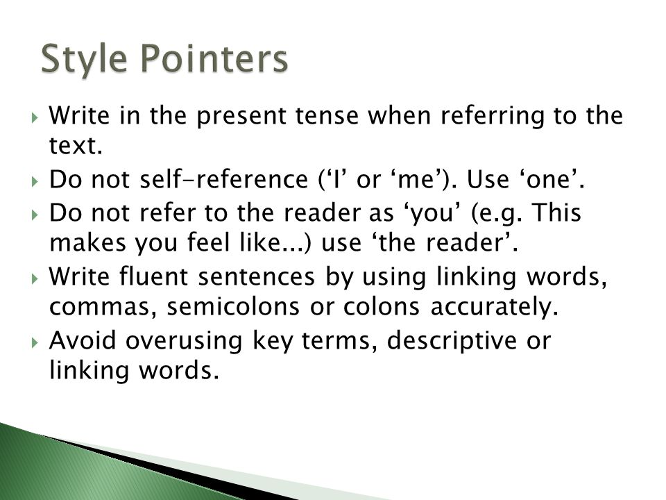 do you write essays in present tense The literary present tense is used in historical writing as well accordingly, when you write using the literary present tense, you use the present tense to discuss fictional events (eg, things happening in a novel or short story) while the past tense is used to discuss historical events (eg, things that happened in the life of the writer.