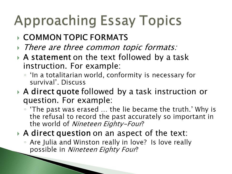 common essay topics