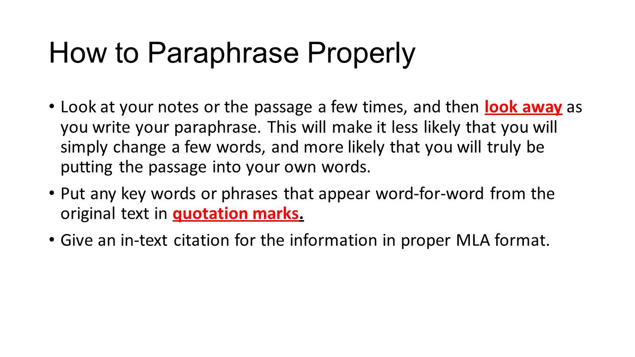 How to paraphrase quotes in a essay