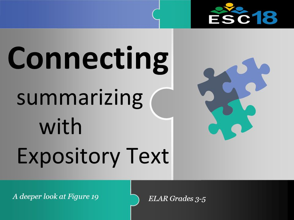 Connecting Summarizing With Expository Text A Deeper Look At Figure 19
